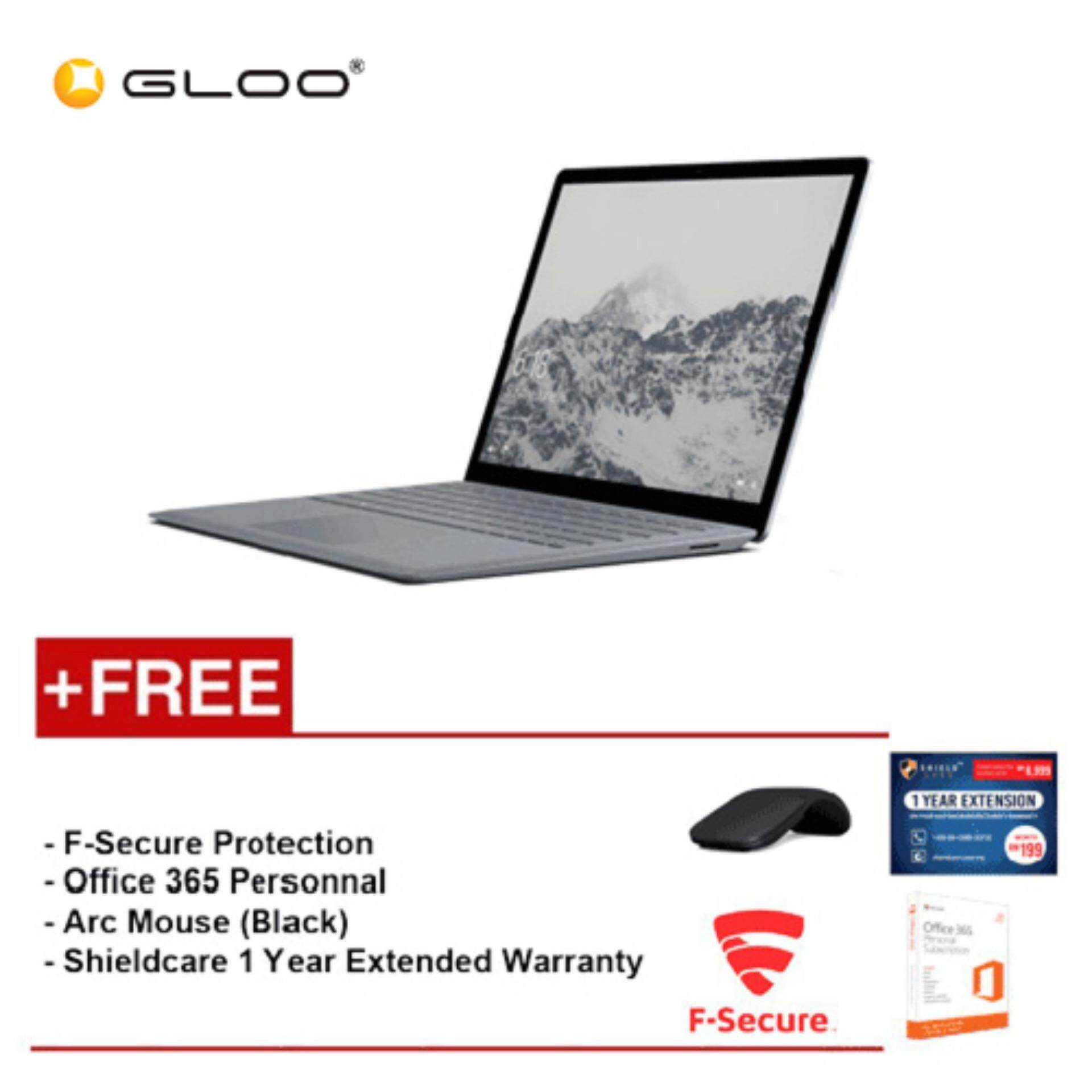 Surface Laptop Core i5/8GB RAM - 256GB + Shield Care 1YR Extended Warranty + F-Secure End Point Protection + Office 365 Personal + Arc Mouse Black Malaysia