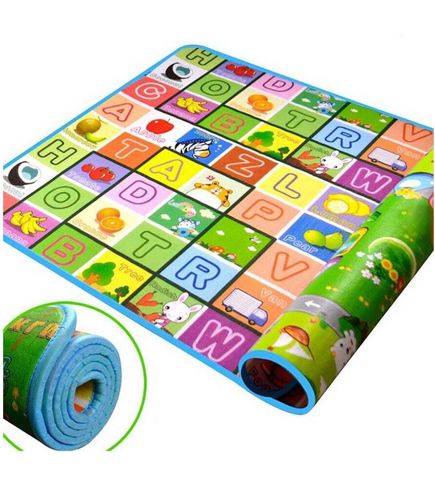 Iguana Online Baby Alphabet Cartoon Carpet FM2005 Folding Playable Floor Mat for Infant 180 x 200cm