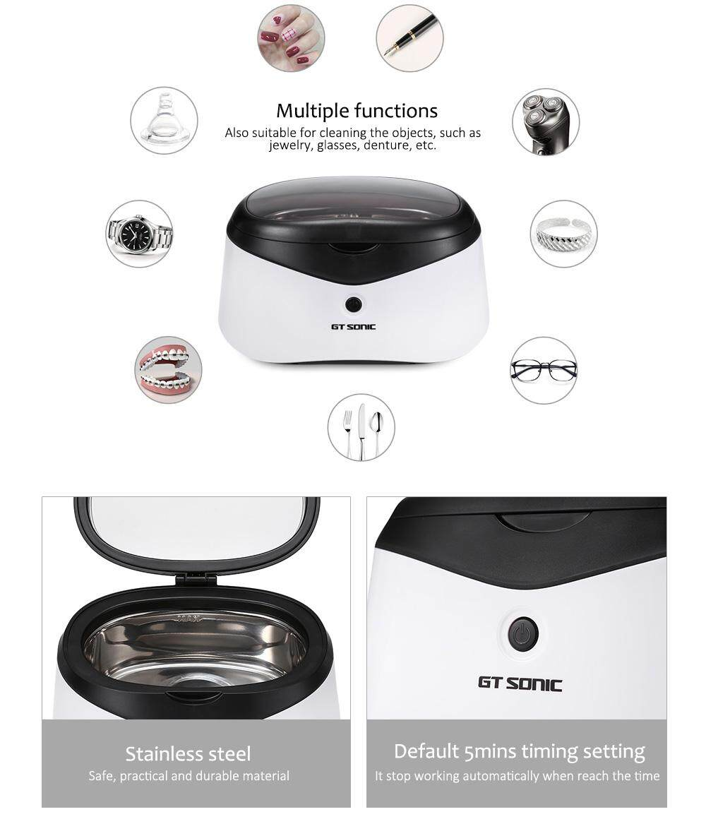 GT Sonic 0.6L Digital Ultrasonic Manicure Sterilizer Cleaner Sterilizing Nail Tools Disinfection Machine