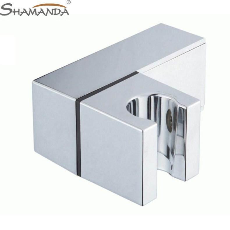 Shamanda ABS Environmentally Friendly Plastic Square Shower Faucet Shower Pedestal Adjustable 360 Degree Rotating Fix Seat