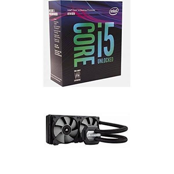 Intel BX80684I58600K 8th Gen Core i5-8600K Processor and Corsair CW-9060025-WW Hydro Series, H100i v2, 240mm Radiator, Dual 120mm PWM fans Malaysia