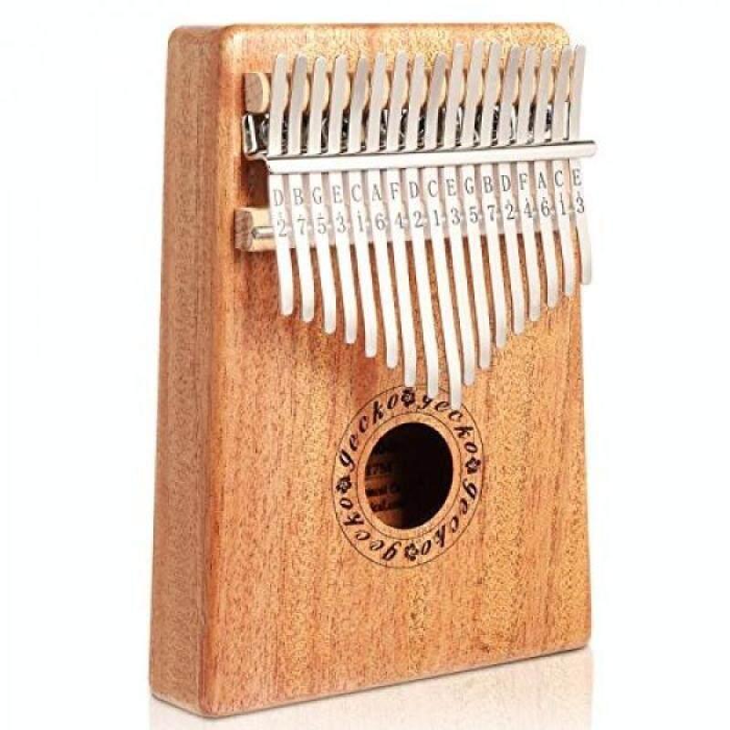Gecko Mahogany Tone Wood Kalimba Thumb Piano, Professional 17 Keys Acoustic Finger Thumb Piano Music Instrument Malaysia