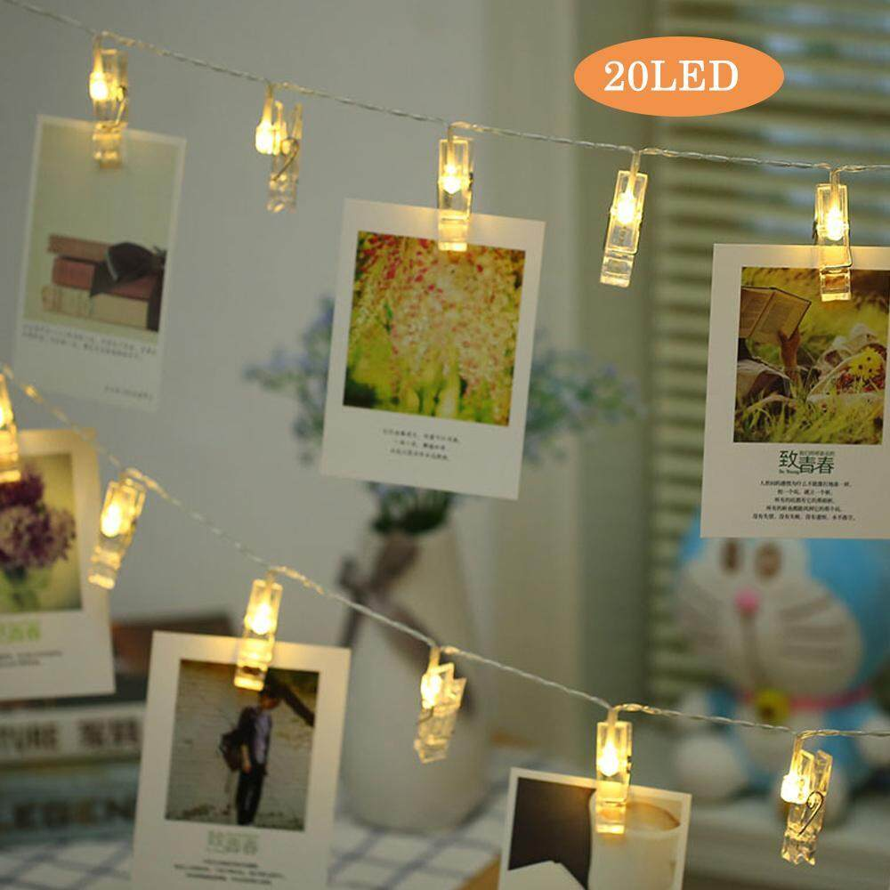 Home Fairy Lights Buy At Best Price In Malaysia Circuit Also Antique Vintage Floor L S Moreover Led Light Womdee 40 Photo Clip String Party Decoration Lights20 Lamp Holders