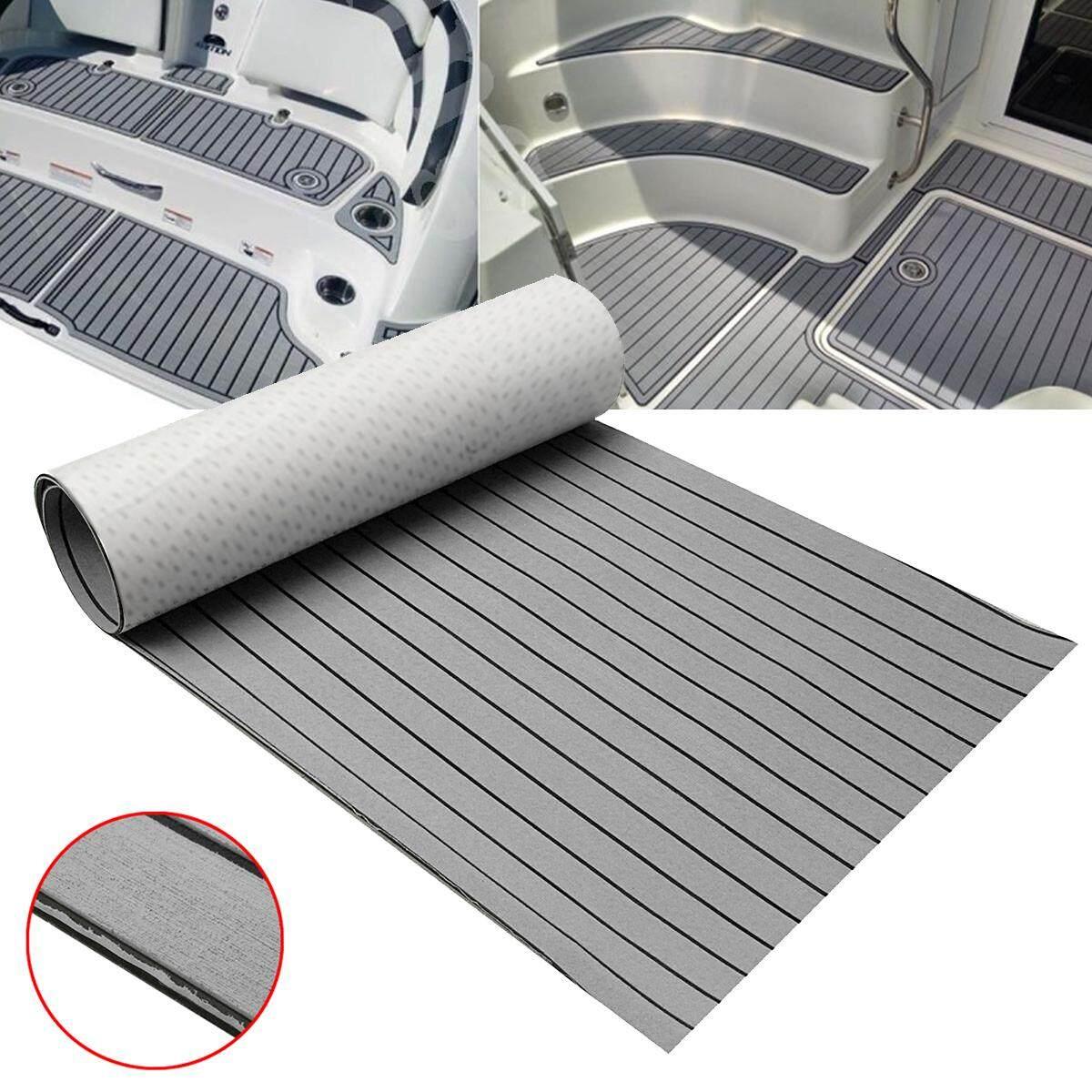900x2300x6mm Marine Boat Flooring EVA Foam Teak Decking Sheet Floor Mat Pad Self-Adhesive