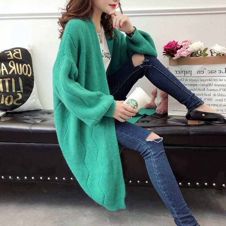 859c1deada Autumn Winter Lazy Style Cardigan Female Korean Loose Sweater Street Long  Sleeve Jacket