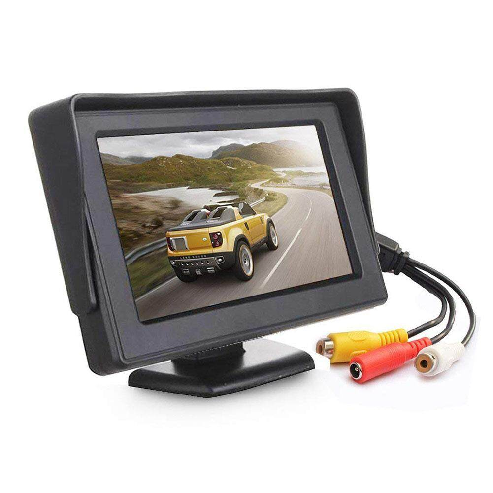 Big House 4.3 Inch TFT LCD Monitor Car Rearview Full Color Display 2-channels Video Inputs Visual Reversing For Car VCD/DVD/GPS/Camera Type:4.3 inch Malaysia