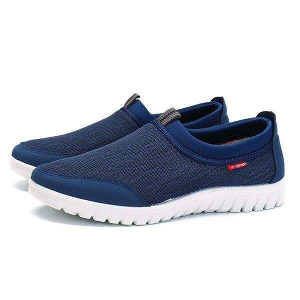 dffac427f208 Fashion Men Large Size Elastic Fabric Slip On Light Weight Walking Shoes  Sneakers