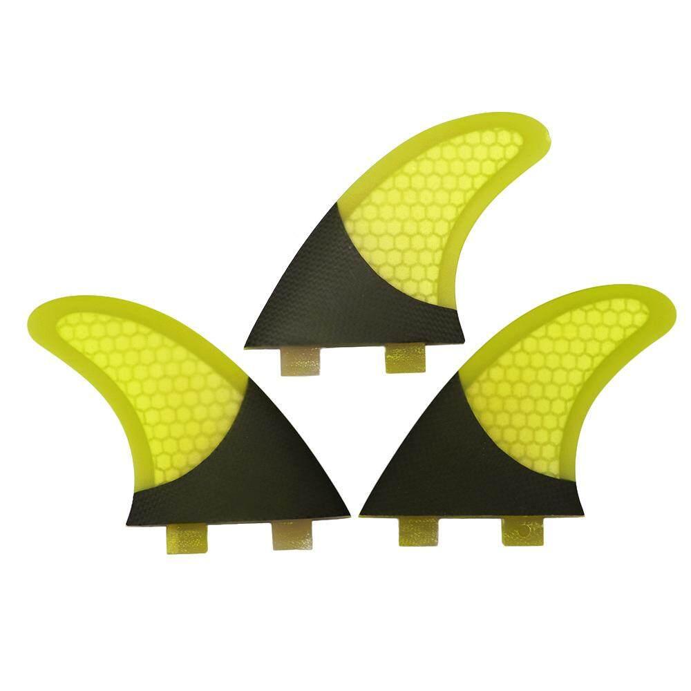 Set Of 3 Surfboard Fins Honeycomb Half Carbon Fiber Surf Board Fins G3 Surfing Fins By Tomtop.