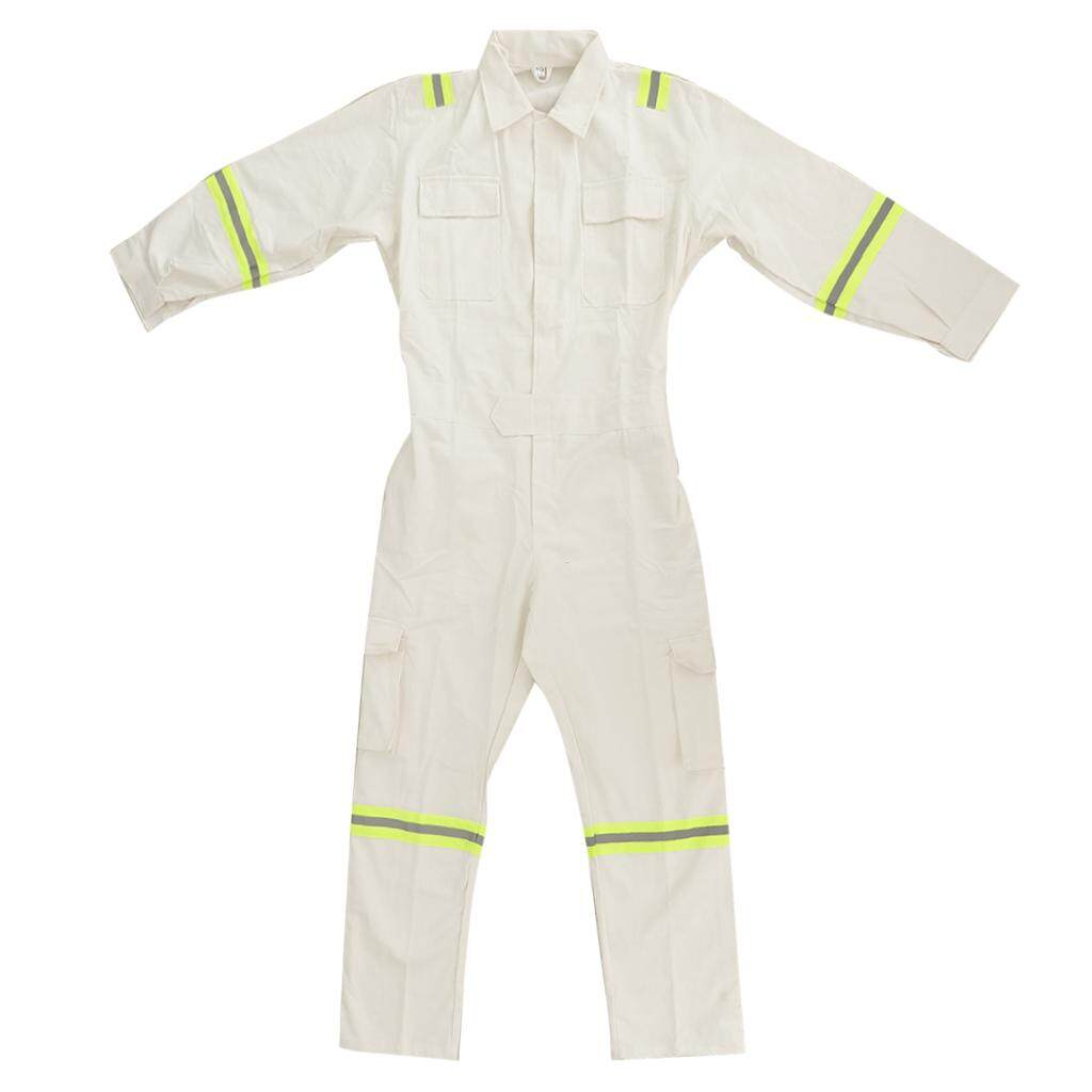 Miracle Shining White Long Sleeve Anti-static Work Clothing Anti-wear Protective Coveralls XXL