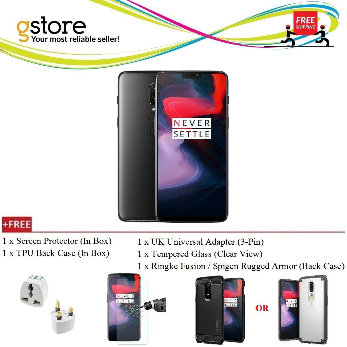 (Ready Stocks) OnePlus 6 A6000 [256GB ROM/8GB RAM] Global ROM + Free Gift  worth RM149!!!