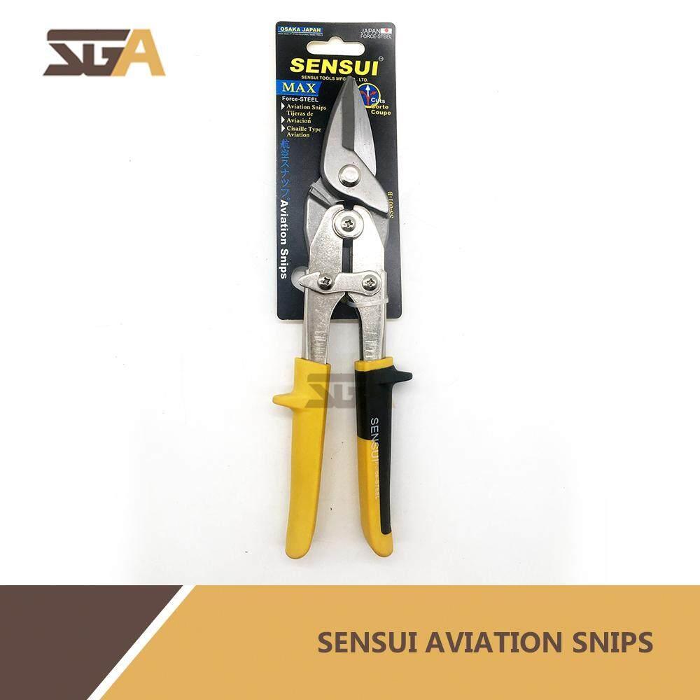 SENSUI Straight Cut Compound Action Aviation Snips Scissor gunting zink