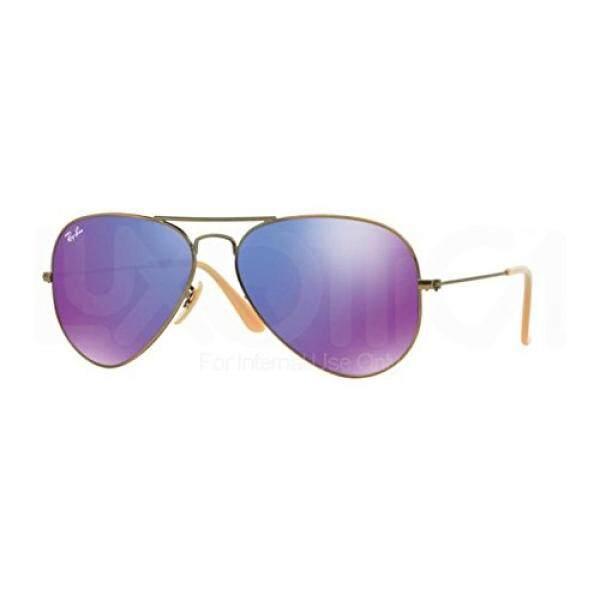 57e292b4e9ee3 ... canada ray ban rb3025 aviator large metal sunglasses brushed bronze  demi shiny grey mirror purple 40fb7