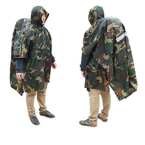 Hiking Raincoat Backpack Cover Ground Mat Reflective Poncho By Freebang.