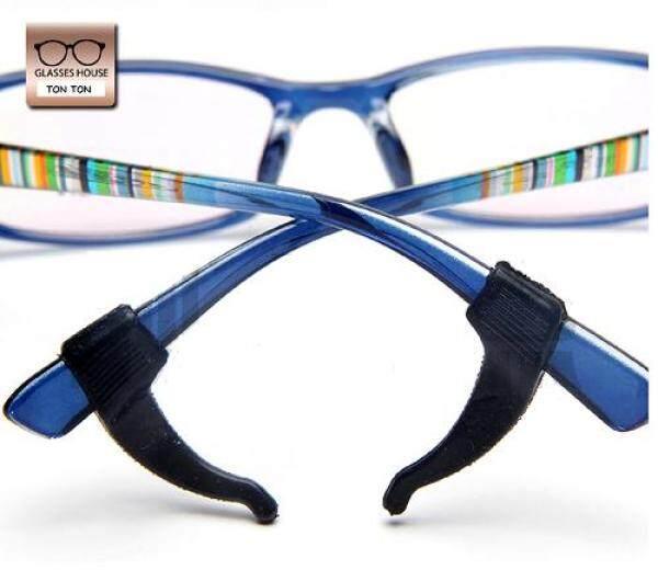 Silicone Anti-Slip Holder Glasses Accessories Ear Hook Eyeglass Temple Tip (Black)