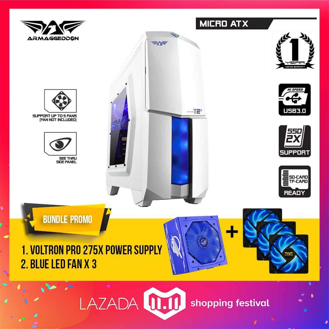 (11.11) Armaggeddon Microtron T2x Micro ATX Gaming Case with Voltron Pro 275x Power Supply and Cooling Fan (x3) Bundle Promo Malaysia