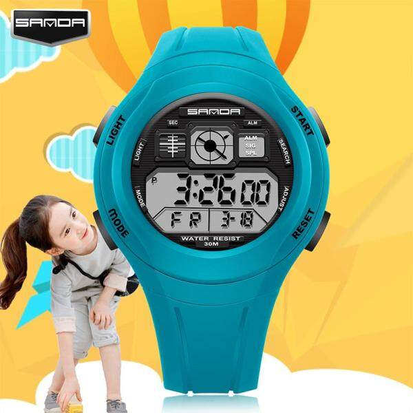 Original SANDA 331 Primary School Students Kids Candy Color Waterproof Children Digital Sport Watch Malaysia