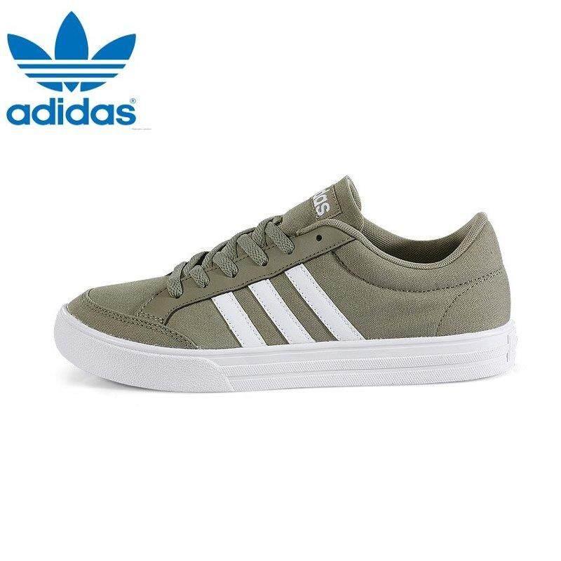 online store 7e2e4 6e639 Adidas BB9643 Unisex VS SET Khaki White Sneakers