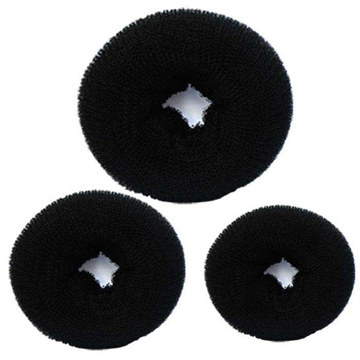 3 Pcs Sponge Women Hair Bun Ring Donut Shaper Maker 3 Sizes Black By Vreovoriest.