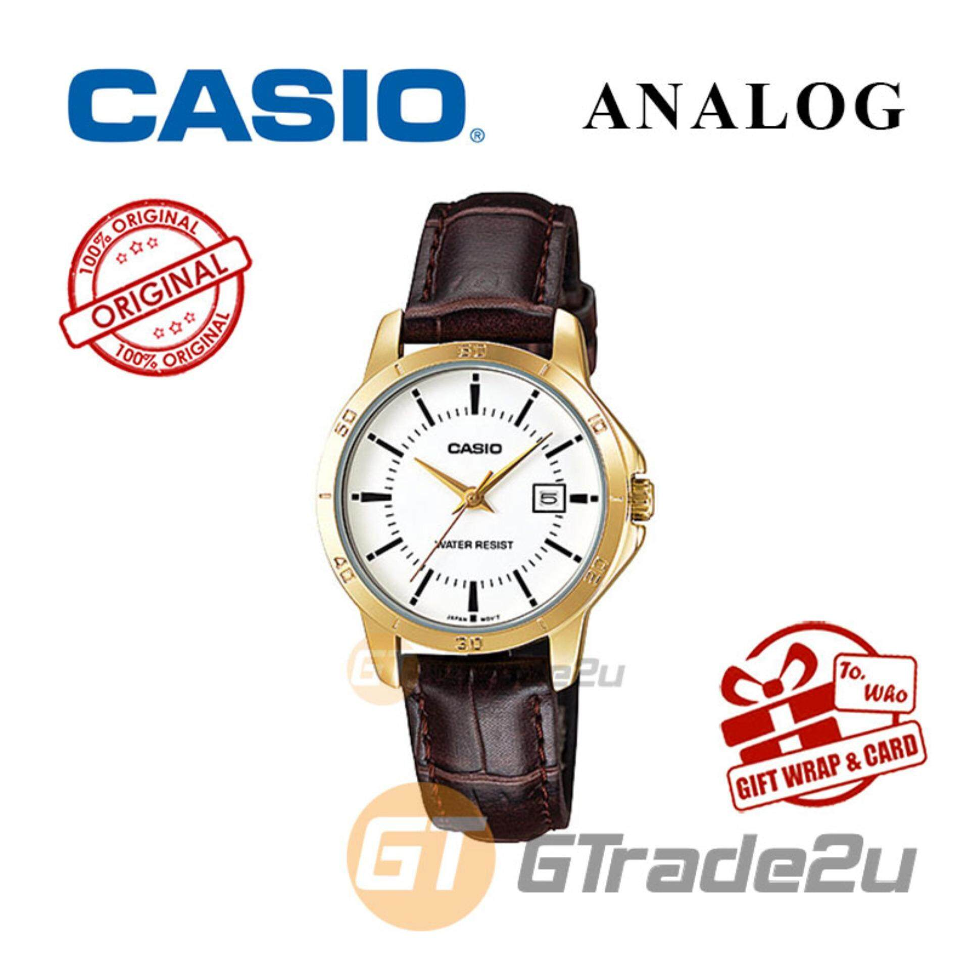 Casio Products For The Best Price In Malaysia Jam Tangan Pria 333mlbldg1 Standard Ltp V004gl 7av Analog Ladies Watch Gold Leather