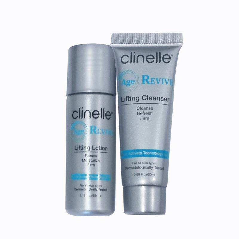Cleanser : Clinelle [Official] Age Revive Lifting Cleanser and Toner Starter Kit