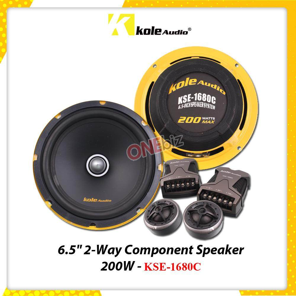 Kole Audio Buy At Best Price In Malaysia Lazada Equalizers Crossovers Wiring Kits Caps And More Click On Picture To 65 2 Way Component Set 200w Kse 1680c