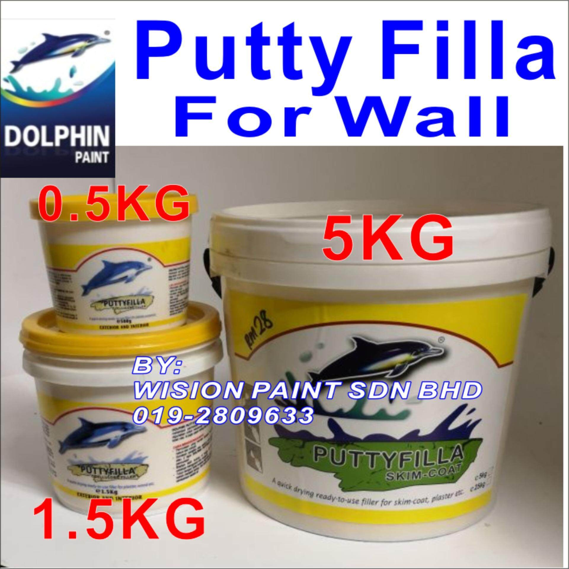 PUTTY FILLA FOR WALLS 0.5KG DOLPHIN PAINT