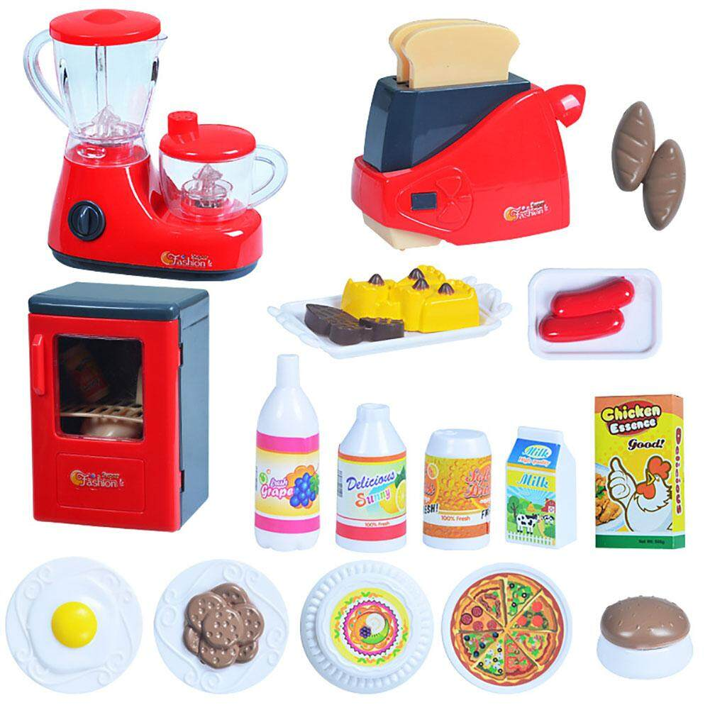 Wonderful Toy Simulate Kids Kitchen Home Appliances Toy Set Play-House Tableware Toy Gift Ornament  Multicolor