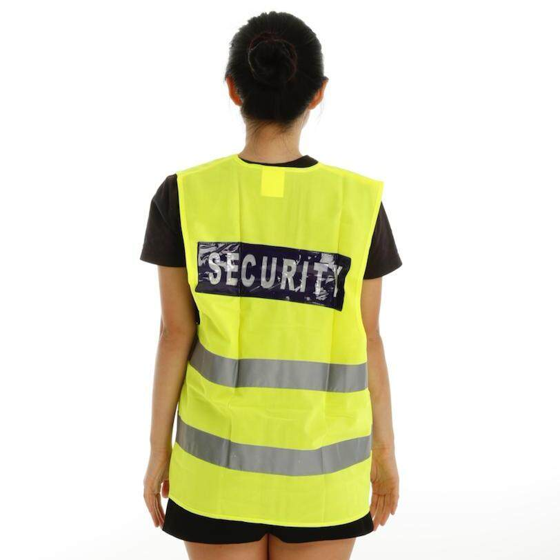 120 RONSON [XL SIZE] SAFETY REFLECTIVE VEST (WITH SECURITY WORD & 2 REFLECTIVE STRIPS)
