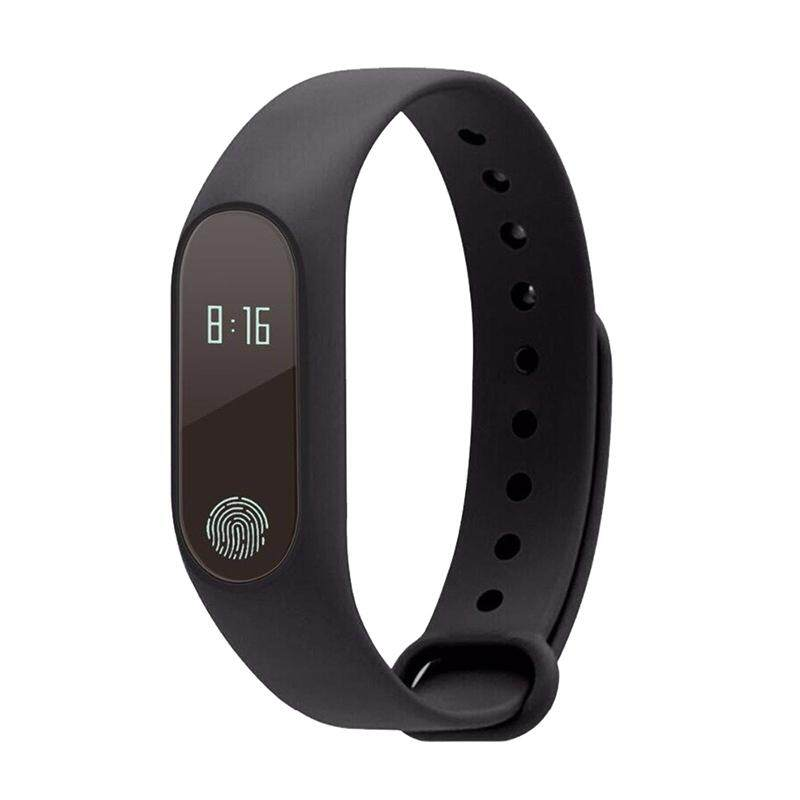 M2 Bluetooth Smartband Wristband IP67 Waterproof Smartwatch Wristwatch Pedometer Fitness Activity Tracker Heart Rate Monitor for iPhone IOS Android Smartphones (Black) Malaysia