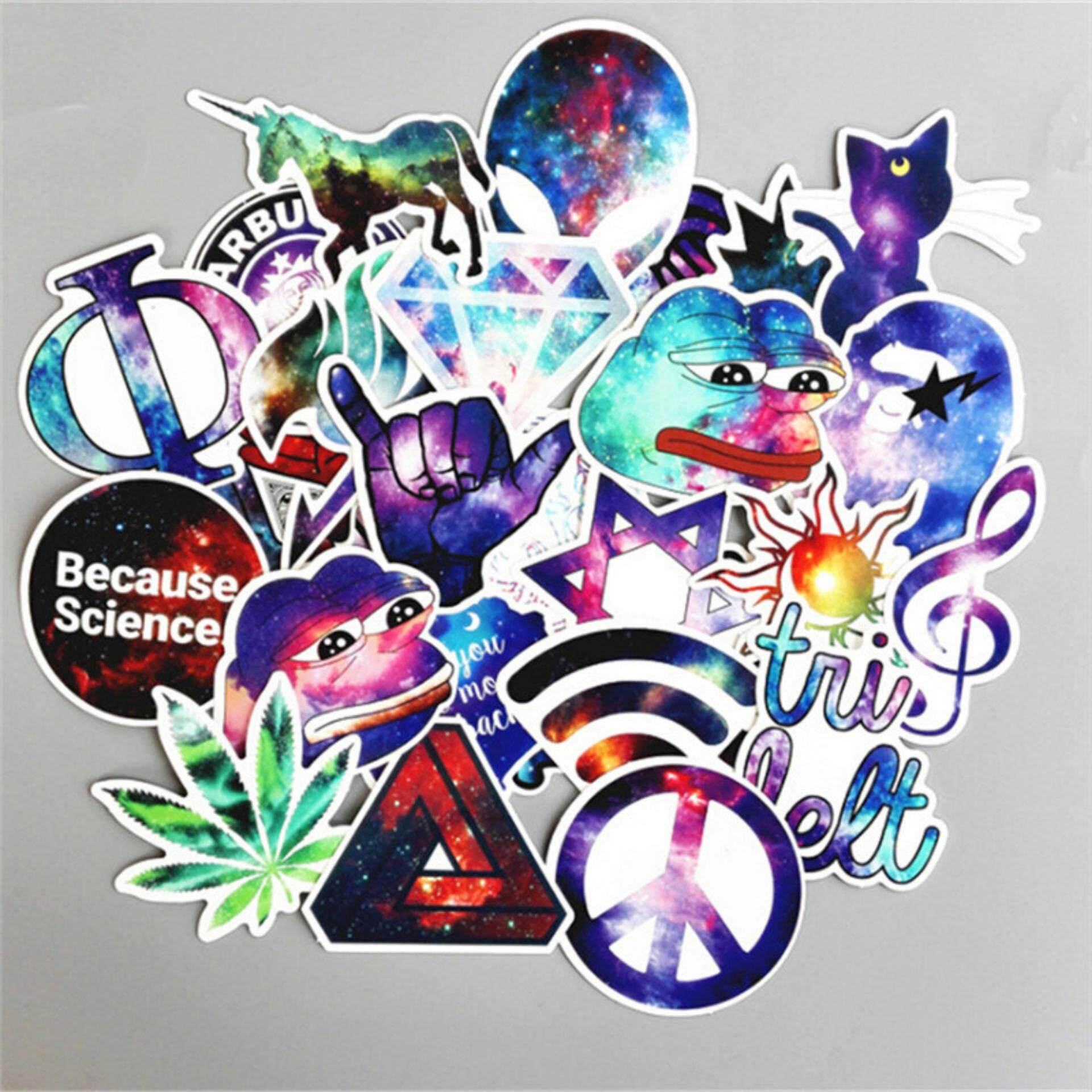 Sissi 28pcs Galaxy Stickers Mixed Decals Luggage Laptop Car Book Waterproof Sticker By Sissi Princess.