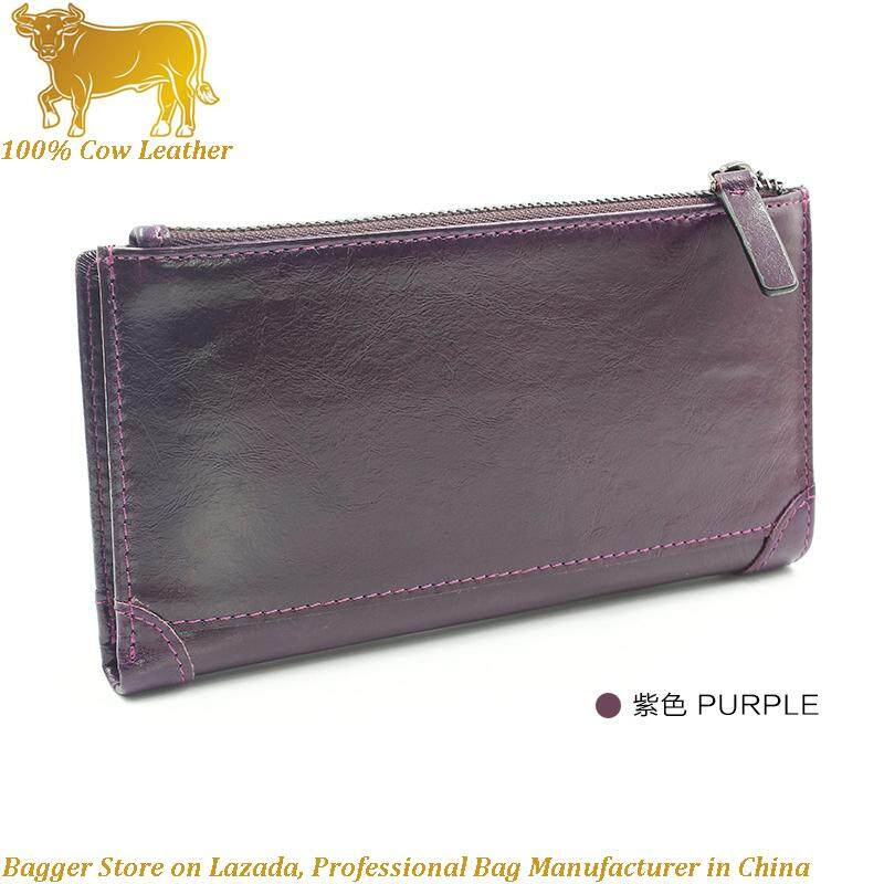 6b143ebd66d8 100% Italian Genuine Cow Leather Purse Men s Crazy Horse Leather Card Multi-Function  Bag