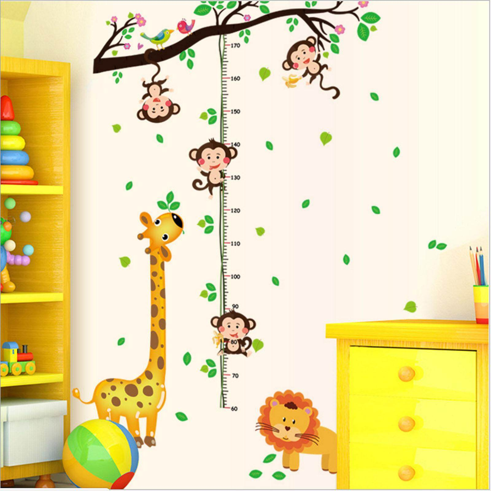 Home Wall Stickers Decals Buy At Wallpaper Sticker 42 Nava Perfect Memory Children Cartoon Growing Up Height Recorder