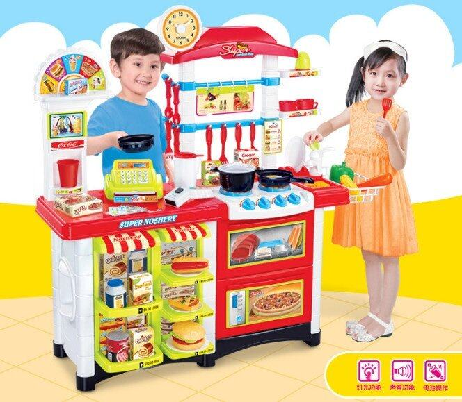 Kitchen Set Lazada: Big Size [87cm] Kids Kitchen Play Set Extend Size