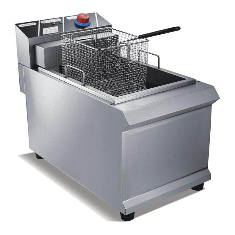 Jinbang Jb-Zl903 12.5l Single Tank Single Basket Luxury Electric Deep Fryer (silver) By Hikitch Kitchen Equipment Store.