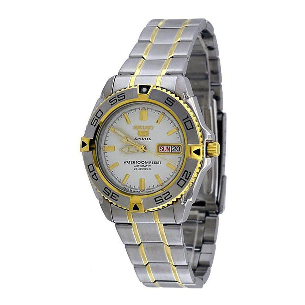 Buy Sell Cheapest Seiko Sports White Best Quality Product Deals Kinetic Ska683p1 Silver Dial Stainless Steel Bracelet 5 Multicolored Case Two Tone