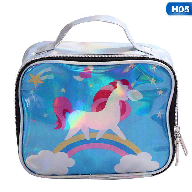 Hologram Holographic Laser Unicorn Clear Makeup Bag Cartoon Ladies Cosmetic Bags Waterproof Case Travel Organizer Pouch Beach Storage By Yuee.