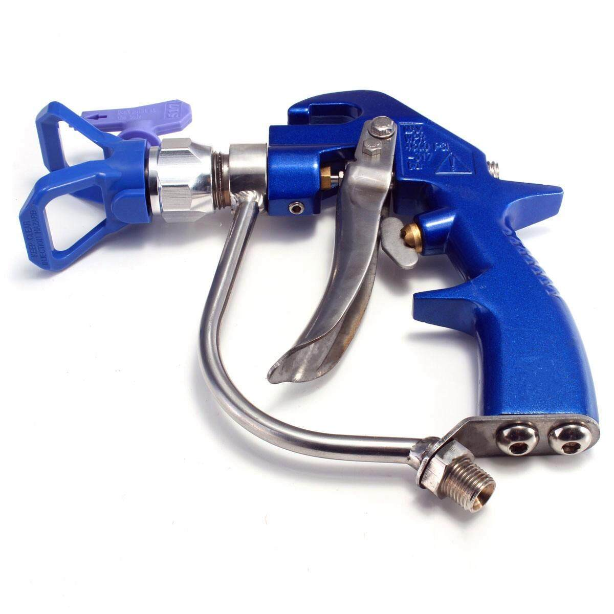 Portable Blue Metallic Practical High-pressure Airless Sprayer With A Nozzle