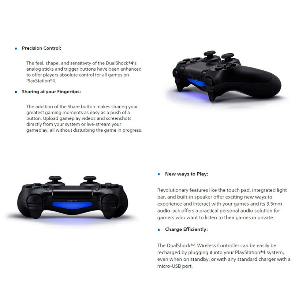 Sony Playstation PS4 Controller Dualshock 4 Wave Blue Colour CUH-ZCT2G/L  (Original) - 1 Year Warranty By Sony Malaysia