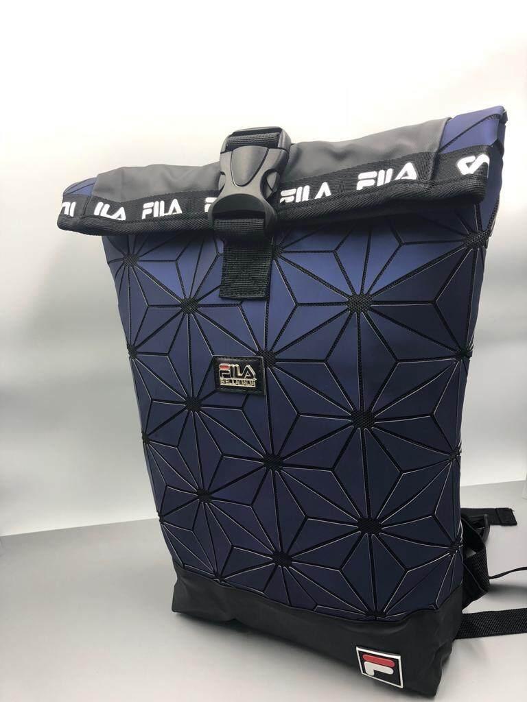 Popular Fila Sportswear For The Best Prices In Malaysia Ready Stock Waist Bag Zipper On 3d Roll Top Backpack Travel Sport Fashion Men Women Blue