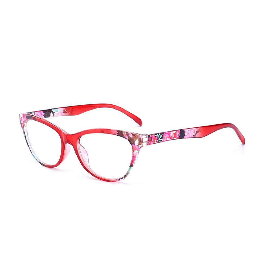 Women Cat Eye Reading Glasses Vintage Reader Fashion Flower Print +1.0-+4.0 By Runrun123.