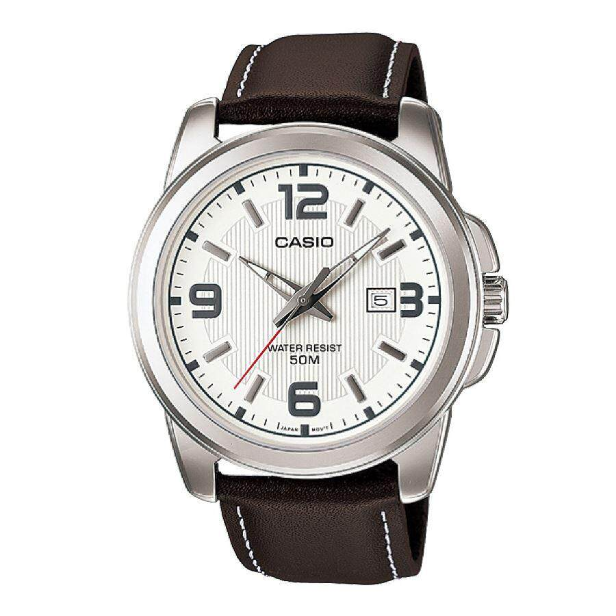 Casio Classic MTP-1314L-7A Genuine Leather Band Mens Watch Malaysia
