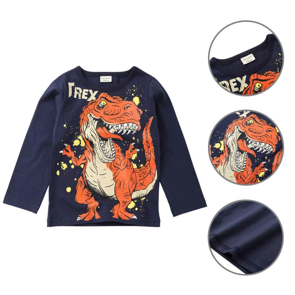 Tideshop Children Infant Kid Boys Cartoon Dinosaur Letter Print T-Shirt Tops Shirts Tee By Tideshop.