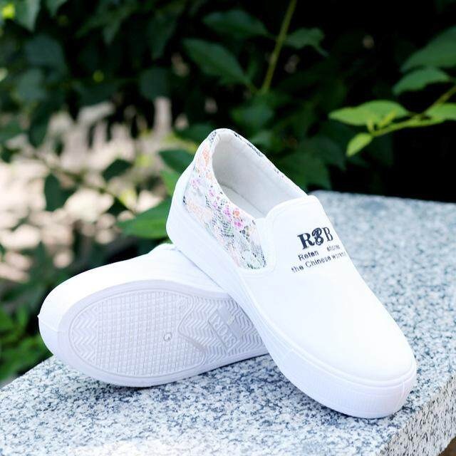 2c2581512b97 Spring Autumn Women Casual Shoes Canvas Fashion Loafers Female Slip on  Loafer 4 cm Thick Base