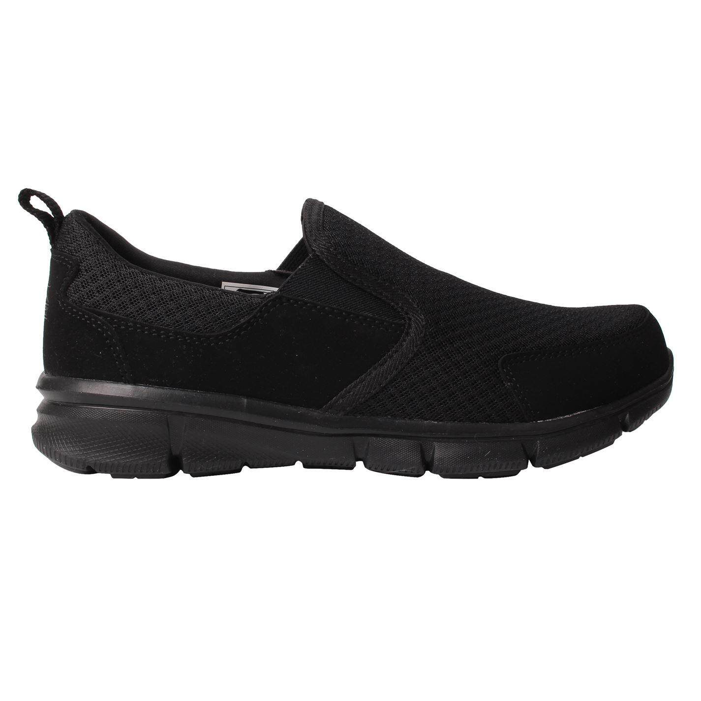 Slazenger Mens Zeal Slip On Trainers (Black/Black)