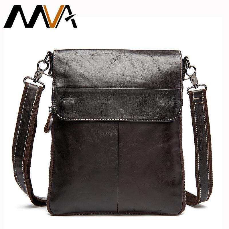 c6072a743a Mva Genuine Leather Men Bag Men S Shoulder Crossbody Bags Brand Casual Ipad  Flap Messenger Bags