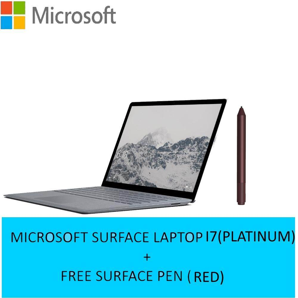 (Bundle)Microsoft Surface LAPTOP  I7-7660U  8GB  256GB  13.5Touch  W10S - Platinum + FREE SURFACE PEN Malaysia