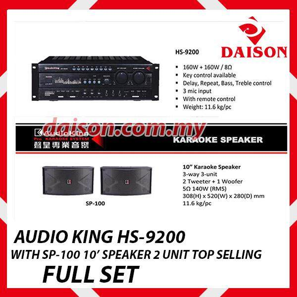Top Selling Audio King Hs-9200 With Sp-100 10 Speaker 2 Unit Full Set By Daison Auto.