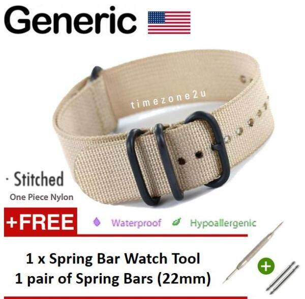 GENERIC USA ZULU Extreme 5-Ring PVD Military NATO Watch Band Replacement Strap (22mm) (FREE: Watch Tool & Spring Bars Kit) Malaysia