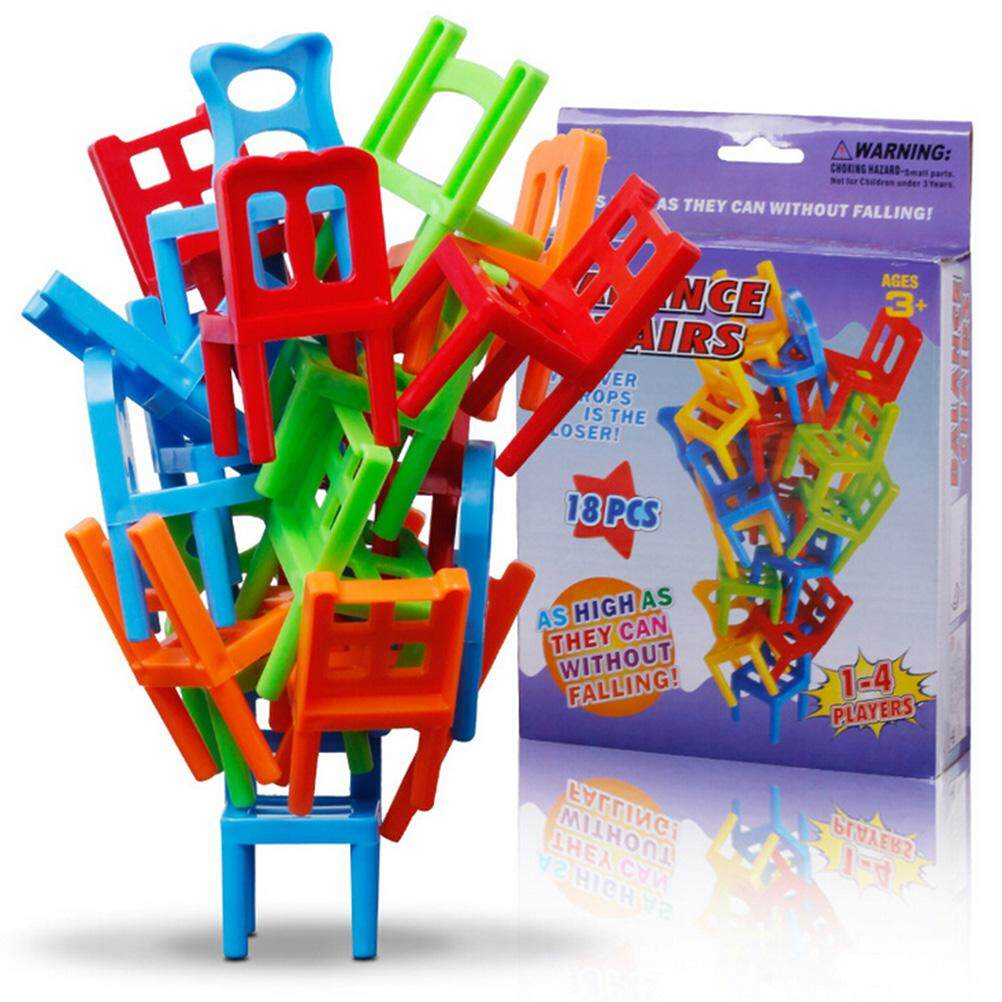 18pcs Balance Chairs Board Game Children Educational Toy Balance By Gorgeous Road.