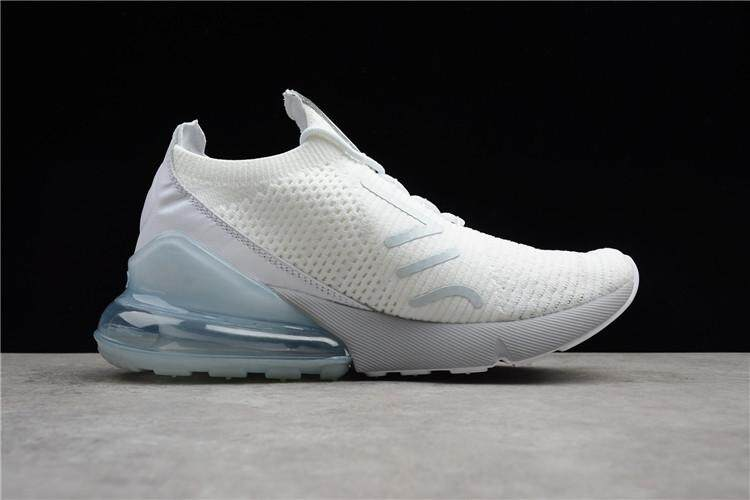 fe92cae90051 Nike Official Air Max 270 Low Top Women Global Sales Running Shoe ( White  Light Blue